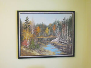 """Large Collectible Original Eva Horthy Oil Painting"""