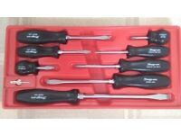 BRAND NEW SNAP ON LIMITED EDITION 8 PIECE SCREWDRIVER SET WITH HATPIN