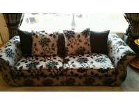 Three piece suite + stool