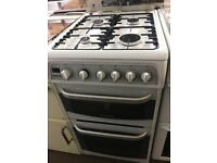 50CM WHITE CANNON GAS COOKER GRILL/OVEN