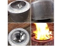 Garden fire pit Camp Fire upcycled from washing machine drum