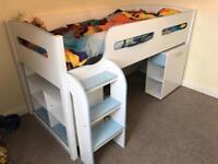 Kids Mid Sleeper Bedroom Set