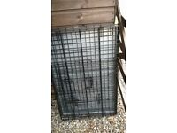 large metal dog crate pet cage, puppy training, travelling etc
