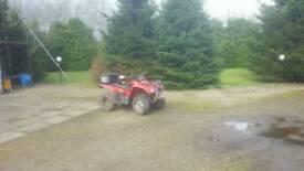 Honda trx420 road leagal quad bike
