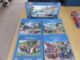 5 x 500 piece jigsaws, excellent condition and all guaranteed complete