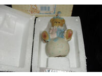 "CHERISHED TEDDIES ""WALLY"" CLOWN ON BALL FIGURINE NOW RETIRED FROM THE COLLECTION"