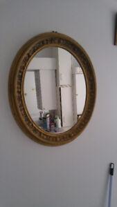miroir couleur or