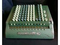 Rare 1950's Sumlock Calculator