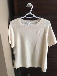 Babaton (aritzia) cashmere short sleeve sweater