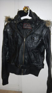 Leather Jacket, Mint Condition Size S