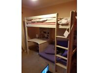 Bunk bed sofa and desk