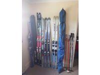 Job lot os skiis and poles