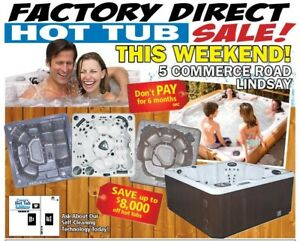Factory Direct Hot Tub &  Swim Spa Sale--This Weekend in Lindsay