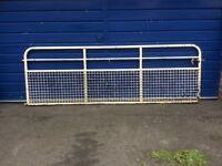 Large driveway gate. Heavy steel.