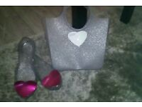 Guess jelly shoe with bag