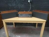 Fabulous mid century Bang & Olufsen radio and B&O speakers
