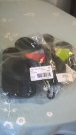 2 brand new pairs of black crocs flip flops