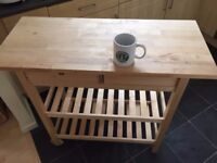 Kitchen trolley table, wooden