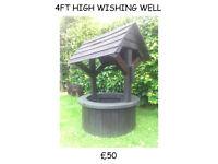garden furniture bench seats flower boxs wishing well