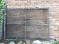 2 x Metal Gates Size 7ft Wide x 5ft High.