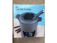 Boots cast iron fondue set