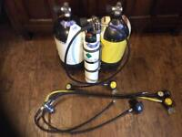 Scuba air cylinders and regs