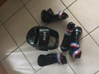 Blitz black sparring protective gear set
