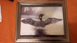 MICHAELS ART PICTURE ART FRAME, w/Glass, and Greg Backwell Print