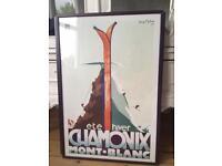 Framed Chamonix Poster