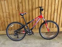 "Trek MT220 24"" wheel aluminium boys mountain bike, 12"" frame, 12 gears, good condition"