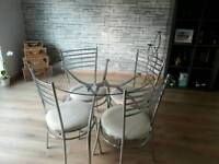 Kitchen/dining table with 4 matching chairs
