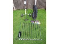 Full Set of Golf Clubs, Bag, Trolley etc.