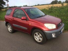 Toyota Rav 4 1.8 NV Petrol, 1.8. 3 door, metallic red, 5 speed, £1500