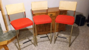 Set of 3 High Barstools
