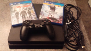 CONSOLE PLAYSTATION 4 (PS4) SLIM 500GO (500GB) INCLUANT 2 JEUX