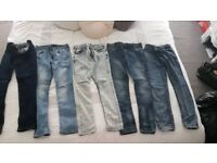 Bundle of boys skinny jeans from River Island age 9 -10