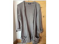 Jumper brown knitted size 8-10