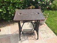 vintage cast iron garden table