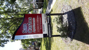 2 bedroom bi level with 1.5 bathrooms in oliver downtown!