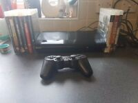 ps3 superslim 250gb with 9 games
