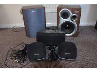 Hi-Fi Surround Sound Speakers.
