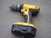 DeWalt 18V Cordless Drill Driver with Battery - Full Working Order - NO CHARGER