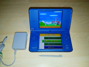Blue Nintendo DSi XL System With Charger