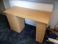 Good quality desk for sale, 49cm x 120 cm. only £15.
