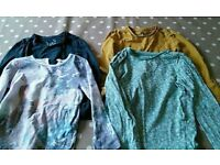 4 Girls 2-3 year old long sleeved tops by 3 Tu at sainsburys 1 M&S