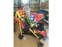 Double travel pushchair