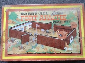 Vintage 1968 carry all action fort apache play set