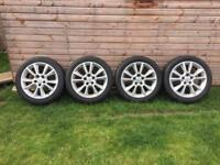 "Vauxhall 17"" alloy wheels with vgood tyres £240"