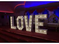 4 Ft LOVE floor letters to HIRE - only £99