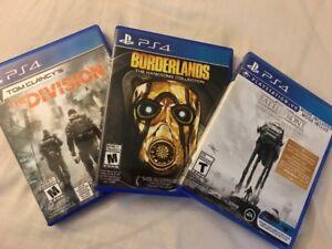 3 jeux pour PS4 à échanger ou à vendre